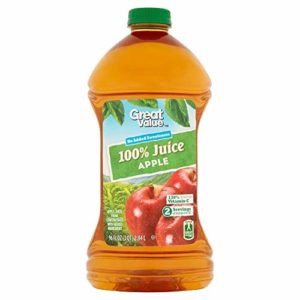 Great Value 100% Apple Juice, 96 Fl Oz by Great Value