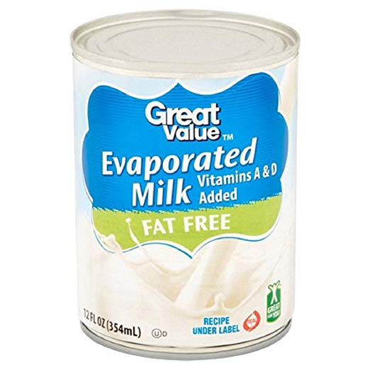 Great Value Evaporated Fat Free Milk 12 oz (3 Pack)