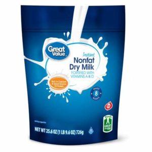 Great Value Nonfat Instant Dry Milk, 25.6 oz