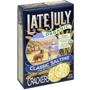 Late July Organic Round Saltine Crackers, 6 oz