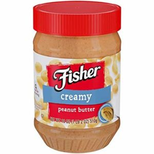 FISHER Creamy Peanut Butter, 18 oz Jar (Pack of 2 )