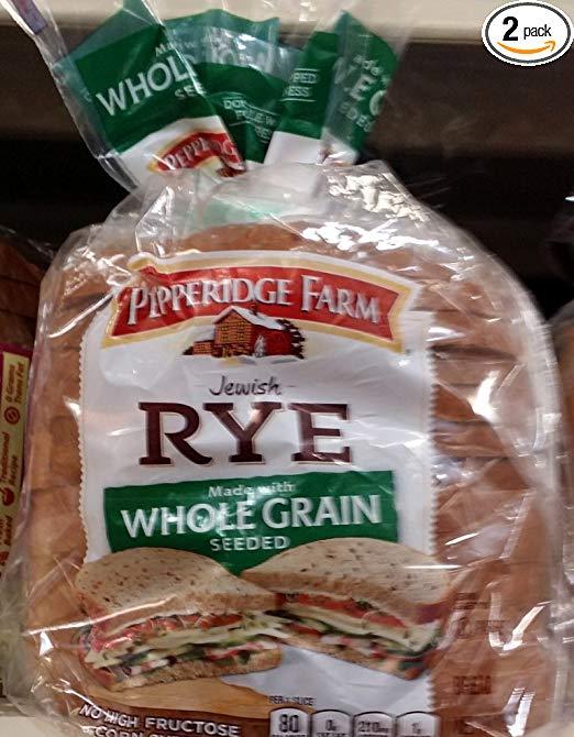 Pepperidge Farm Jewish Rye Bread, Whole Grain Seeded 16Oz (Pack of 2)