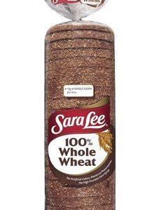 SARA LEE WHOLE WHEAT BREAD 100% PER LOAF 20 OZ