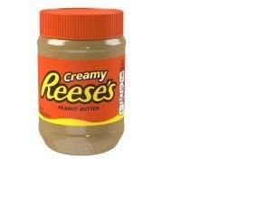 REESE'S Creamy Peanut Butter, Kosher Peanut Spread, 18-Ounce Jar