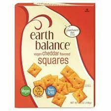 Earth Balance Vegan Snacks, Cheddar Flavor Squares, 6 ounce (Pack of 6)