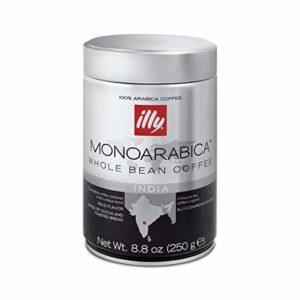 illy Monoarabica India Whole Bean Single Origin Coffee, 8.8 Ounce