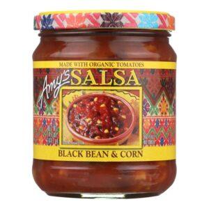 Amy's Salsas, Organic Black Bean & Corn Salsa, 14.7 Ounce