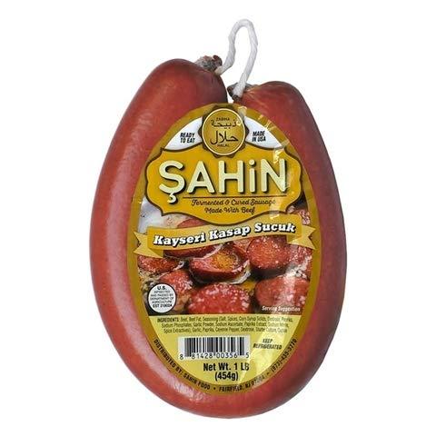 Halal Zabiha Beef Sausage, 1 LB (Kayseri Kasap Sucuk)