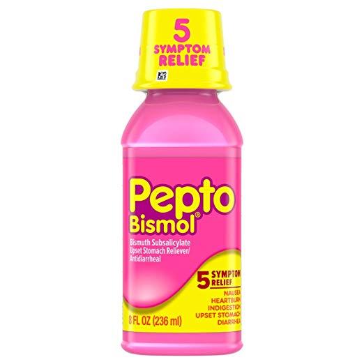 Pepto-Bismol Original Liquid 5 Symptom Relief, Including Upset Stomach & Diarrhea 8 Oz