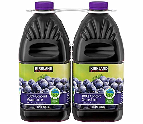 Kirkland Signature All Natural 100% Concord Grape Juice (Not from Concentrate): 2 Pack - 2.83 L