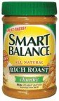 Smart Balance All Natural Rich Roast Chunky Peanut Butter 16 oz (Pack of 12)