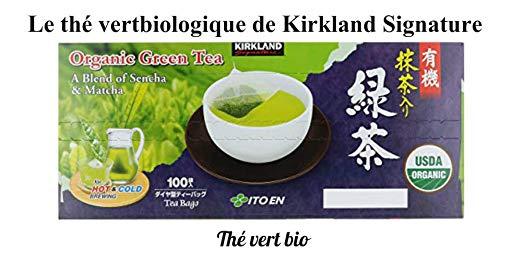 Kirkland Signature Organic Japanese Green Tea, A Blend of Sencha & Matcha 100 bags 0.05 Oz/1.5g per bag