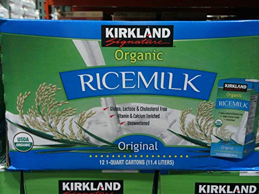 Kirkland Signature Organic Rice Milk Usda Organic Kosher 32 Fl Oz - Pack of 12