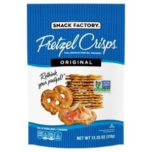 Snack Factory Pretzel Crisps, Original, 3 oz