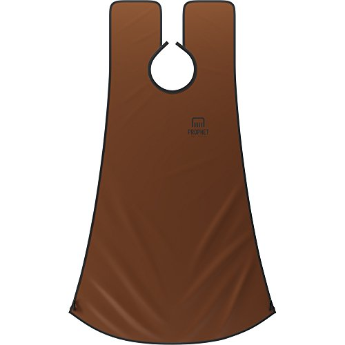 THE ULTIMATE Beard Shaving Hair Catcher - Convenient & Time-Saving Pro Facial Hair Grooming Apron For Men, Offers Hassle-Free Shaving & Catches Clippings - Brown - Prophet & Tools