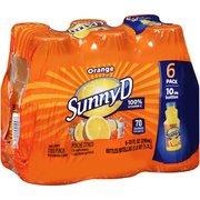 Sunny D Orange Citrus Punch, 10 fl oz, 6 count(Case of 2)
