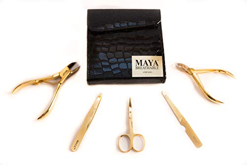 MAYA PROFESSIONAL MANICURE KIT 18K Pro Series: Gold-coated stainless steel implements