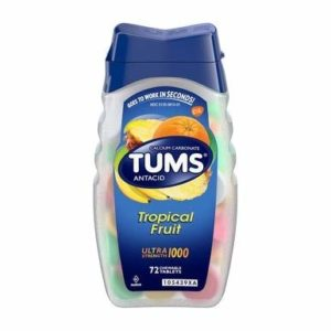 TUMS Ultra Strength 1000 Chewable Tablets Assorted Tropical Fruit - 72 ct