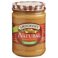 Smuckers Natural Peanut Butter Chunky, 16 OZ (Pack of 12)
