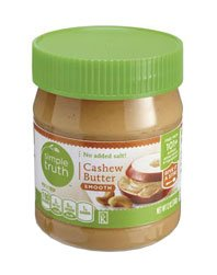 Simple Truth Cashew Butter, Smooth, No Salt Added 12 Oz (Pack of 2)