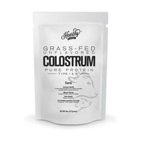 Hearthy Foods Halal Colostrum Pure Protein Type I and Type III Non GMO, Gluten Free supports immune system, and anti aging 16 Ounces