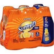 Sunny D Orange Citrus Punch, 10 fl oz, 6 count(Case of 2) by Sunny D