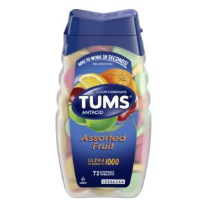 Tums Ultra, Assorted Tropical Fruit, 72 Chewable Tablets, (Pack of 2) by Tums