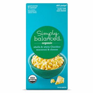 Simply Balanced Organic Shells & White Cheddar Macaroni & Cheese Dinner, 6OZ