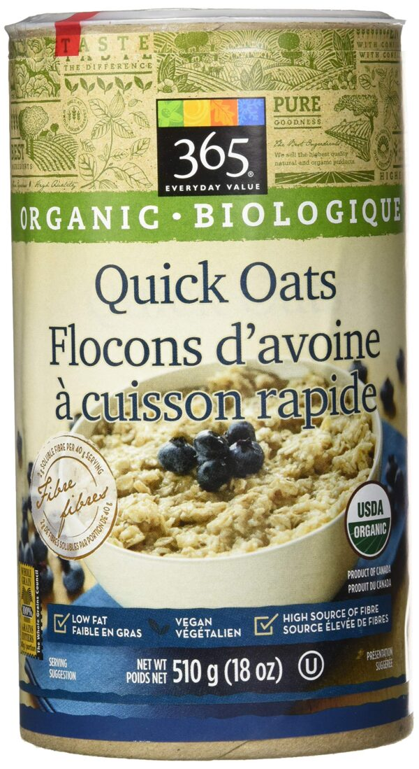 365 Everyday Value, Organic Quick Oats, 18 Ounce
