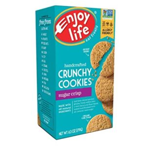 Enjoy Life Crunchy Cookies, Soy free, Nut free, Gluten free, Dairy free, Non GMO, Vegan, Sugar Crisp, 1 Box