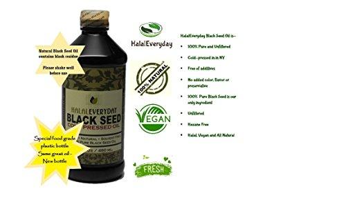 Pure Black Seed Oil - 16 OZ - 100% Pure and Cold Pressed Black Seed - Non-GMO and Vegan - Nigella Sativa