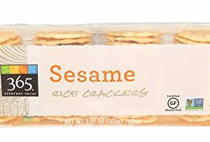 365 Everyday Value, Sesame Rice Crackers, 3.57 Ounce
