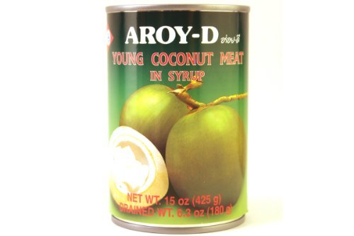 Young Coconut Meat in Syrup - 15oz (Pack of 3)