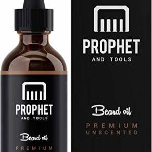 Best Premium Beard Oil Now in 60ML - for Fuller Beards, Mustache & Goatee Growth Oil - Leave-in Conditioner and Softener - 100% Natural & Organic Mens Facial Hair Product - Prophet and Tools