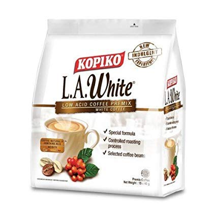 10 Pack Kopiko LA White - Coffee Premix White Coffee (10 x 15 Sachets) Free Express Delivery