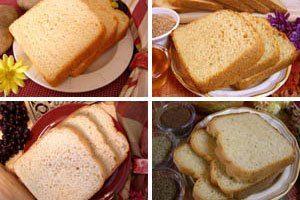 The Prepared Pantry Bread Machine Sampler Pack Mixes (for oven also) (Summerhill Irish Pot. White, Farmhouse Honey Wheat, Buttermilk White, Country Wheat 4 Grain)
