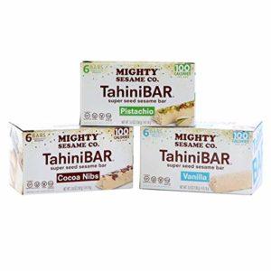 Mighty Sesame TahiniBars, Variety Pack (Total 18 Bars)