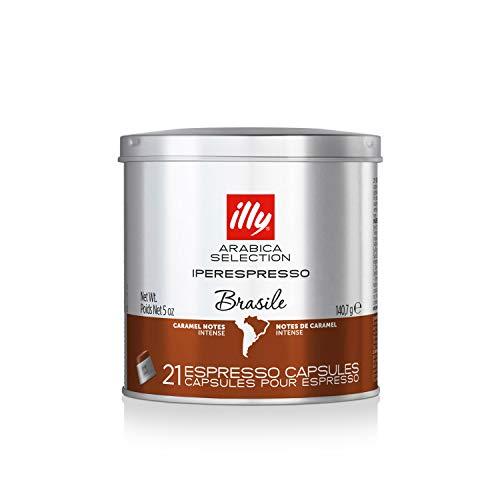 Illy Caffe Arabica Selection Brazil Iperespresso Coffee Capsules 21 count 5 oz