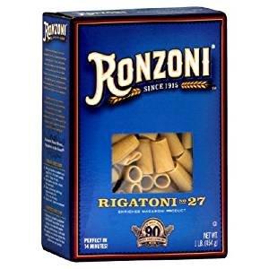 Ronzoni Rigatoni Non GMO 16 Oz. Pack Of 3.