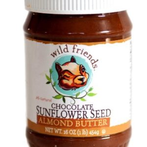 Wild Friends Chocolate Sunflower Seed Almond Butter 16 oz. Jar (Pack of 2)