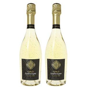 Pierre Chavin Gold Arabesque Non-Alcoholic 24 Karat Gold Sparkling Wine 750ml (2 Bottles)