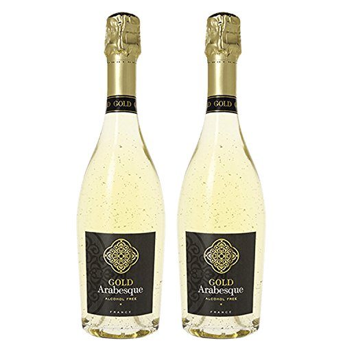 Pierre Chavin Gold Arabesque Non-Alcoholic 24 Karat Gold Sparkling Wine 750ml (2 Bottles)