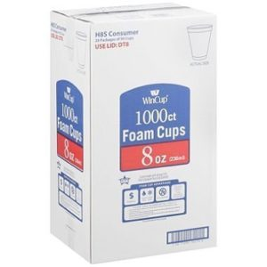 WinCup Foam Cups - 8 oz./1000 ct.