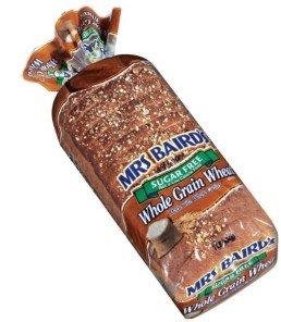 Mrs Bairds Sugar Free Whole Grain Wheat Bread 1lb (Pack of 2)