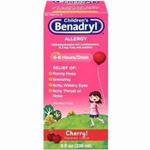 Children's Benadryl Allergy Liquid Cherry 8 oz