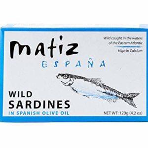 Matiz España Wild Spanish Sardines in Olive Oil, 4.2-Ounce (2 Pack)