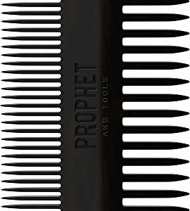 The Dual Beard Comb For Detangling, Brushing & Straightening Short and Long Beards | Double Sided Tooth For Facial Hair & Mustache Grooming | Acetate Made, Stronger than Plastic | Prophet and Tools