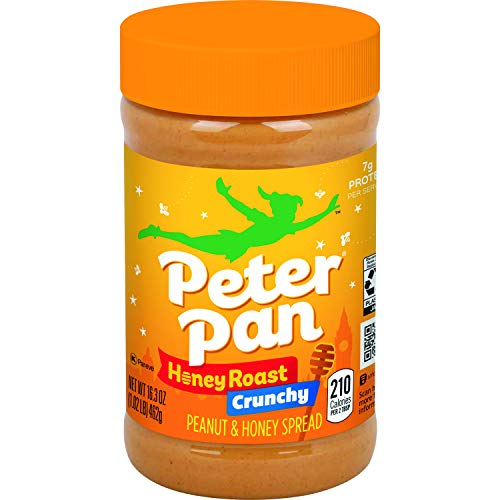 Peter Pan Crunchy Honey Roast Peanut Spread, 16.3 oz 6-Count