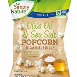 Simply Nature Popcorn Olive Oil & Sea Salt, 5 oz, pack of 2