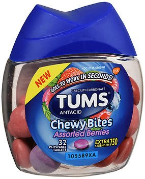 TUMS Extra Strength 750 Antacid Chewy Bites Assorted Berries - 32 ct, Pack of 3